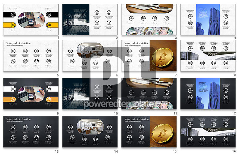 Business Presentation with Icons