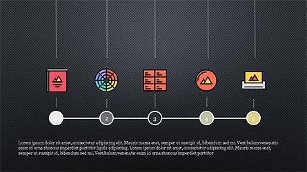 Process Flow Presentation Concept, Slide 10, 04228, Icons — PoweredTemplate.com