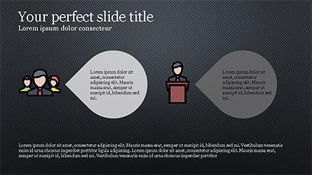 Process Flow Presentation Concept, Slide 13, 04228, Icons — PoweredTemplate.com