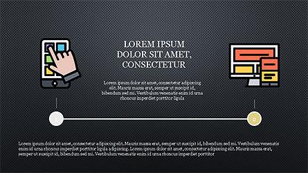 Process Flow Presentation Concept, Slide 14, 04228, Icons — PoweredTemplate.com