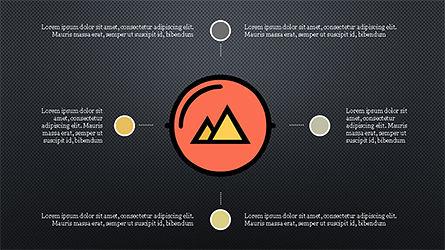 Process Flow Presentation Concept, Slide 16, 04228, Icons — PoweredTemplate.com