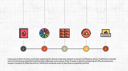 Process Flow Presentation Concept, Slide 2, 04228, Icons — PoweredTemplate.com