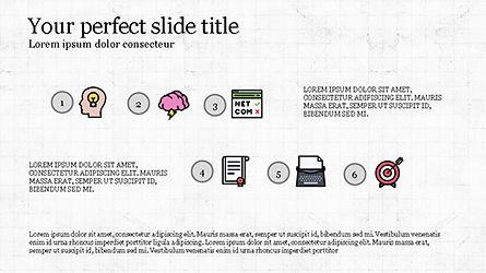 Process Flow Presentation Concept, Slide 3, 04228, Icons — PoweredTemplate.com