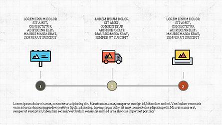 Process Flow Presentation Concept, Slide 4, 04228, Icons — PoweredTemplate.com