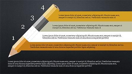 Pencil Options Toolbox, Slide 16, 04233, Stage Diagrams — PoweredTemplate.com