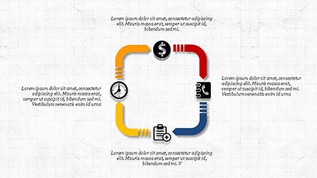 Financial Processes Minimalist Presentation Template, Slide 2, 04240, Process Diagrams — PoweredTemplate.com