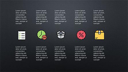 Presentation Deck with Colorful Shapes, Slide 14, 04245, Presentation Templates — PoweredTemplate.com