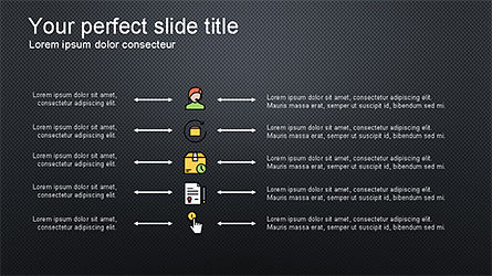 Presentation Deck with Colorful Shapes, Slide 15, 04245, Presentation Templates — PoweredTemplate.com