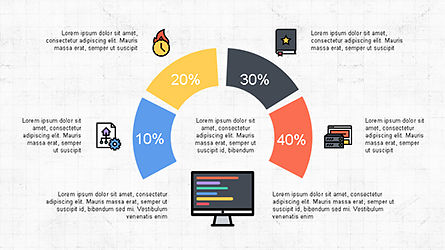 Presentation Deck with Colorful Shapes, Slide 3, 04245, Presentation Templates — PoweredTemplate.com
