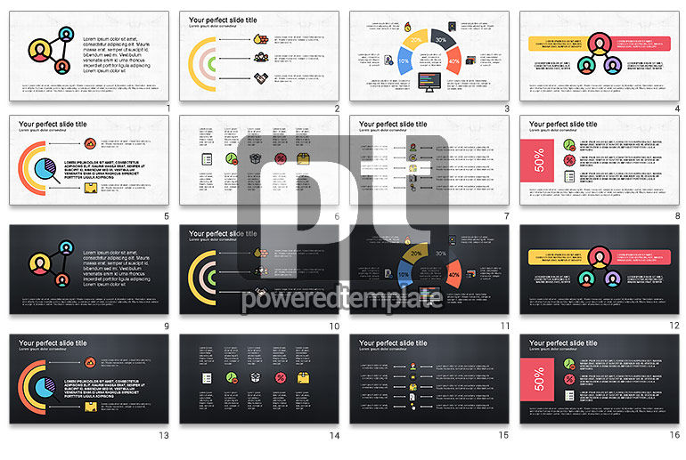 Presentation Deck with Colorful Shapes