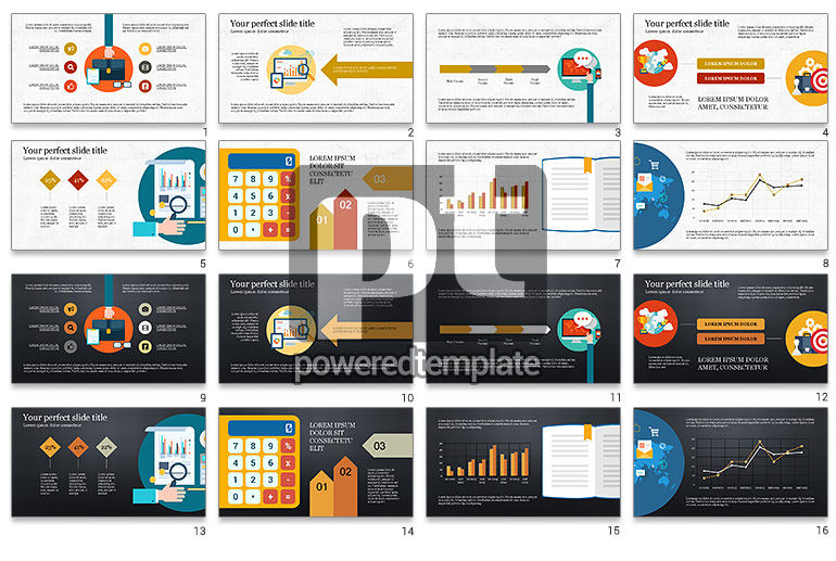 Financial Report Creative Presentation Template