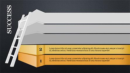 Steps to Success with Ladder, Slide 10, 04252, Shapes — PoweredTemplate.com