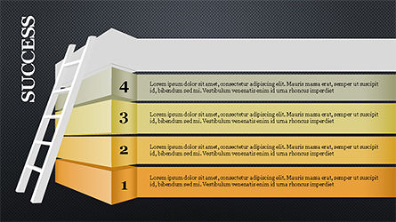 Steps to Success with Ladder, Slide 12, 04252, Shapes — PoweredTemplate.com