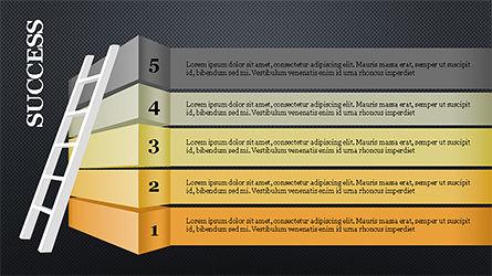 Steps to Success with Ladder, Slide 13, 04252, Shapes — PoweredTemplate.com