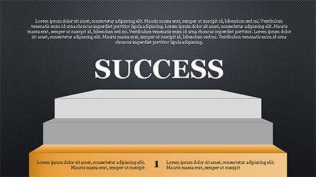 Steps to Success with Ladder, Slide 14, 04252, Shapes — PoweredTemplate.com