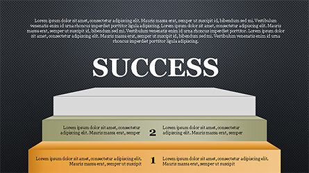 Steps to Success with Ladder, Slide 15, 04252, Shapes — PoweredTemplate.com