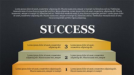 Steps to Success with Ladder, Slide 16, 04252, Shapes — PoweredTemplate.com