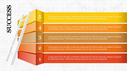 Steps to Success with Ladder, Slide 5, 04252, Shapes — PoweredTemplate.com