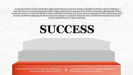 Steps to Success with Ladder, Slide 6, 04252, Shapes — PoweredTemplate.com