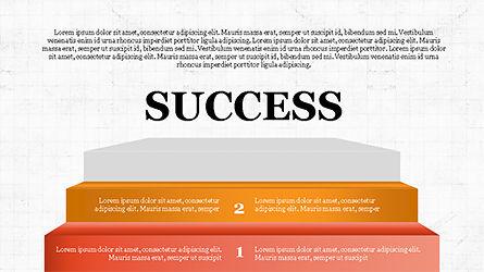 Steps to Success with Ladder, Slide 7, 04252, Shapes — PoweredTemplate.com
