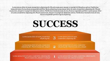 Steps to Success with Ladder, Slide 8, 04252, Shapes — PoweredTemplate.com