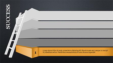 Steps to Success with Ladder, Slide 9, 04252, Shapes — PoweredTemplate.com