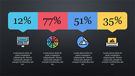 Presentation Template with Colorful Shapes, Slide 10, 04253, Presentation Templates — PoweredTemplate.com