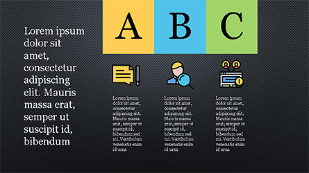 Presentation Template with Colorful Shapes, Slide 14, 04253, Presentation Templates — PoweredTemplate.com