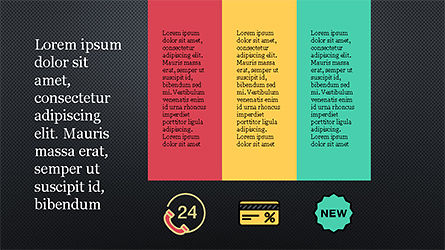 Presentation Template with Colorful Shapes, Slide 16, 04253, Presentation Templates — PoweredTemplate.com