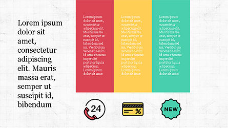 Presentation Template with Colorful Shapes, Slide 8, 04253, Presentation Templates — PoweredTemplate.com