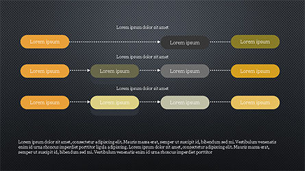 Sequential Linear Chart Diagram, Slide 14, 04254, Process Diagrams — PoweredTemplate.com
