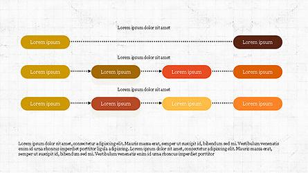 Sequential Linear Chart Diagram, Slide 5, 04254, Process Diagrams — PoweredTemplate.com