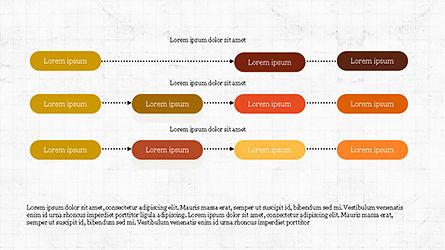 Sequential Linear Chart Diagram, Slide 6, 04254, Process Diagrams — PoweredTemplate.com