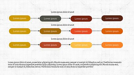 Sequential Linear Chart Diagram, Slide 7, 04254, Process Diagrams — PoweredTemplate.com