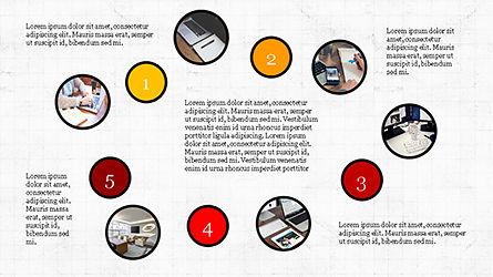 Presentation Templates: Concepto de presentación de formas redondeadas #04256