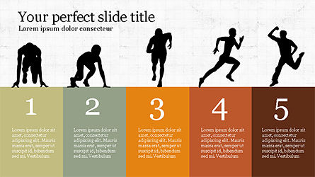Runner Silhouettes Presentation Template, 04257, Presentation Templates — PoweredTemplate.com