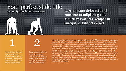 Runner Silhouettes Presentation Template, Slide 11, 04257, Presentation Templates — PoweredTemplate.com