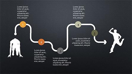 Runner Silhouettes Presentation Template, Slide 14, 04257, Presentation Templates — PoweredTemplate.com