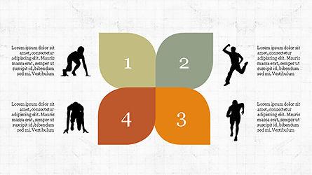 Runner Silhouettes Presentation Template, Slide 5, 04257, Presentation Templates — PoweredTemplate.com