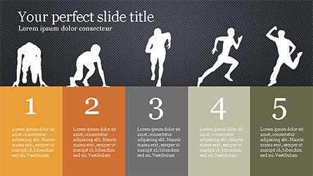 Runner Silhouettes Presentation Template, Slide 9, 04257, Presentation Templates — PoweredTemplate.com