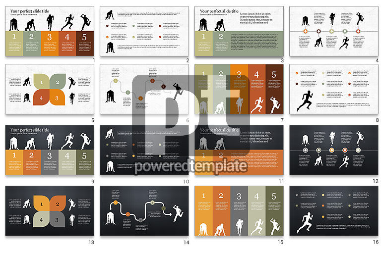 Runner Silhouettes Presentation Template