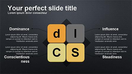 DISC Diagram Personality, Slide 12, 04259, Business Models — PoweredTemplate.com