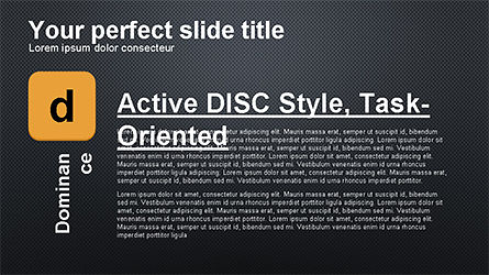 DISC Diagram Personality, Slide 13, 04259, Business Models — PoweredTemplate.com