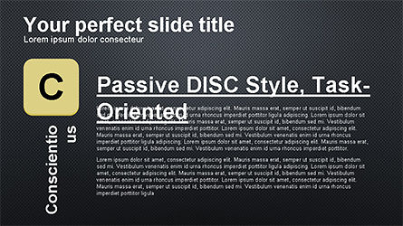 DISC Diagram Personality, Slide 16, 04259, Business Models — PoweredTemplate.com