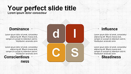 DISC Diagram Personality, Slide 4, 04259, Business Models — PoweredTemplate.com