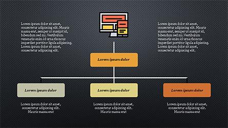 Software Development Presentation Template, Slide 13, 04262, Organizational Charts — PoweredTemplate.com