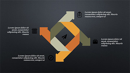 Process and Timeline Slide Deck, Slide 10, 04264, Process Diagrams — PoweredTemplate.com