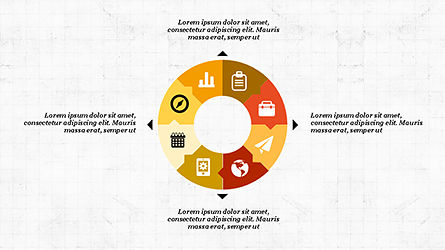 Process and Timeline Slide Deck, Slide 6, 04264, Process Diagrams — PoweredTemplate.com