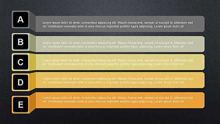 Agenda Options Ribbon Style, Slide 10, 04265, Stage Diagrams — PoweredTemplate.com