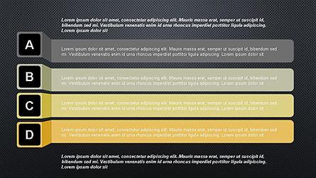 Agenda Options Ribbon Style, Slide 12, 04265, Stage Diagrams — PoweredTemplate.com